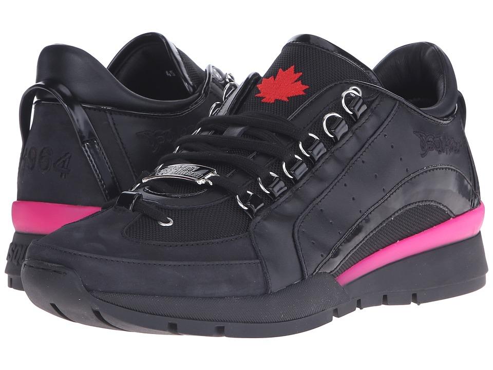 DSQUARED2 - 551 Tech Sneaker (Black/Fuxia) Men