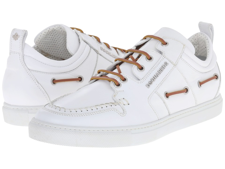 DSQUARED2 - Technobarca Boat Sneaker (White) Men's Shoes