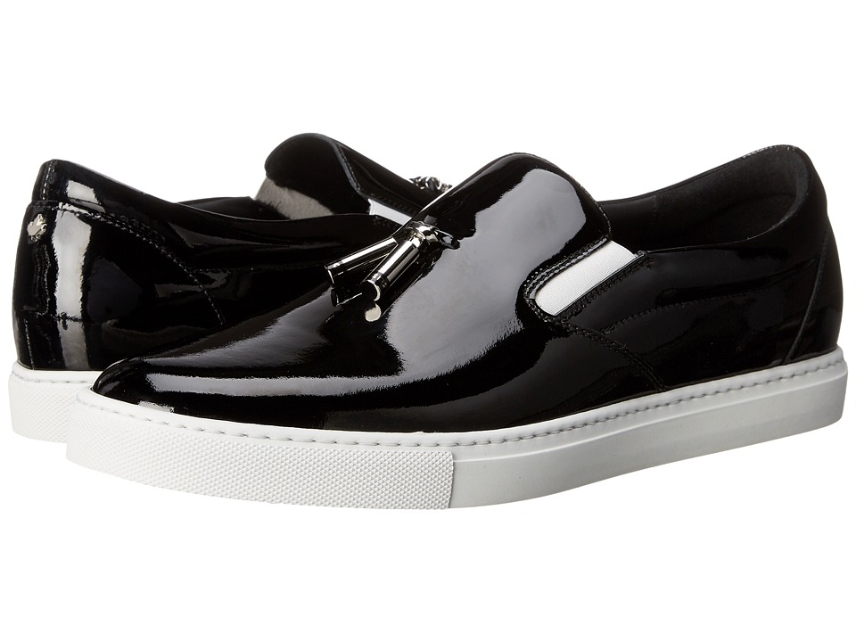 DSQUARED2 - Tux Patent Tassel Sneaker (Black) Men's Shoes