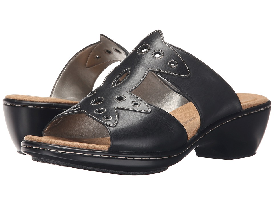 Rockport - Spring Hill Flower H-Band (Black Leather) Women's Sandals
