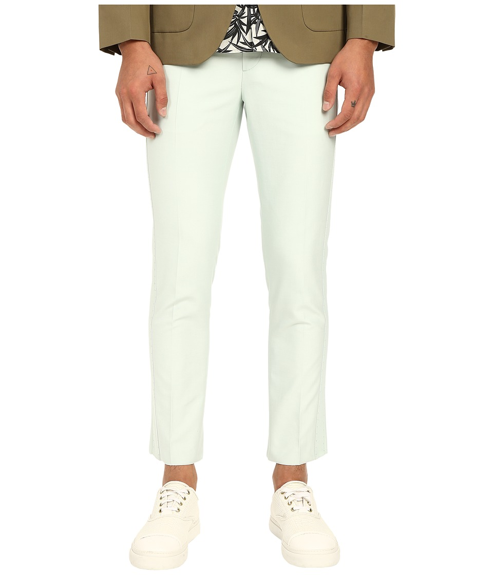 Marc Jacobs - Matte Shiny Suiting Pants (Mint) Men's Casual Pants