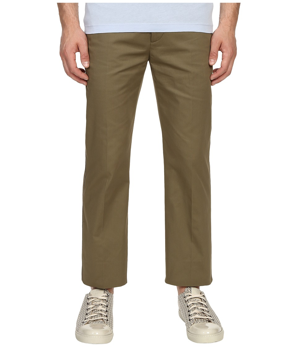 Marc Jacobs - Ottoman Stripe Cropped Pants (Army) Men's Casual Pants