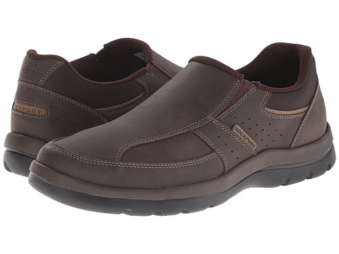 Rockport - Get Your Kicks Slip-On (Brown) Men's Slip on Shoes