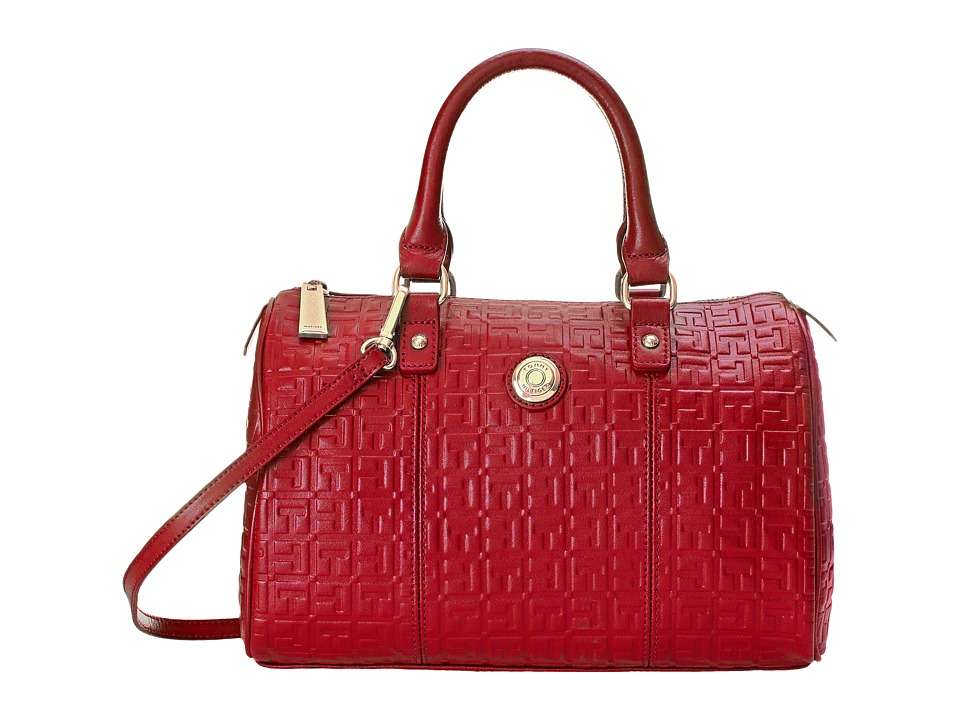 Tommy Hilfiger - Quinn Medium Satchel (Tommy Red) Satchel Handbags