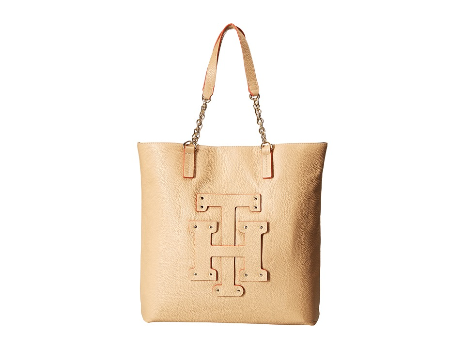 Tommy Hilfiger - Patch-Tote w/ Chain (Sand) Tote Handbags