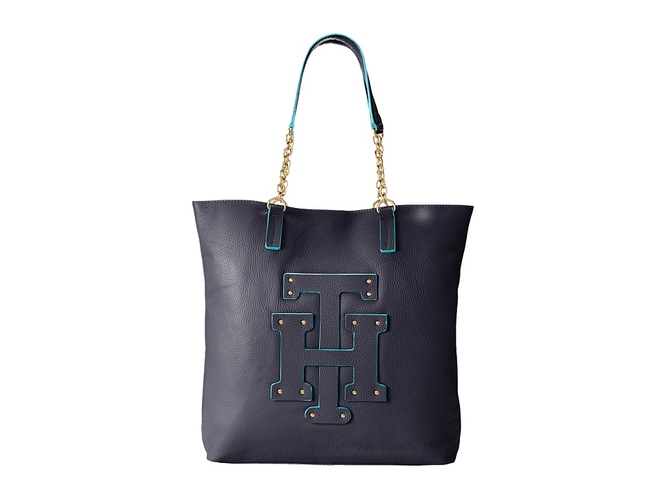 Tommy Hilfiger - Patch-Tote w/ Chain (Tommy Navy) Tote Handbags