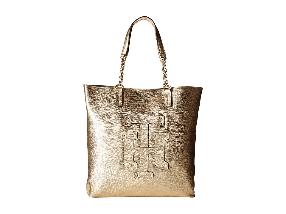 Tommy Hilfiger - Patch-Tote w/ Chain (Metalic Gold) Tote Handbags
