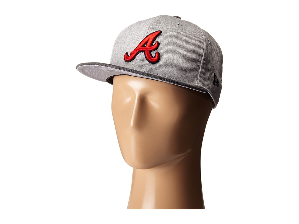 New Era - Heather Act Snap Atlanta Braves (Medium Gray) Caps