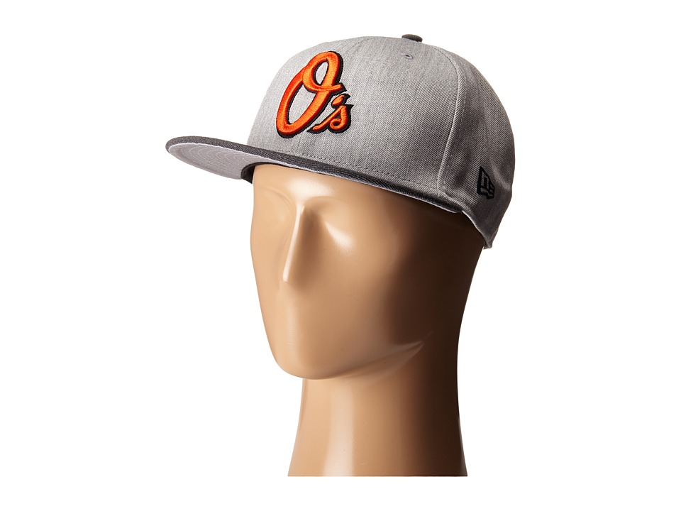 New Era - Heather Act Snap Baltimore Orioles (Medium Gray) Caps