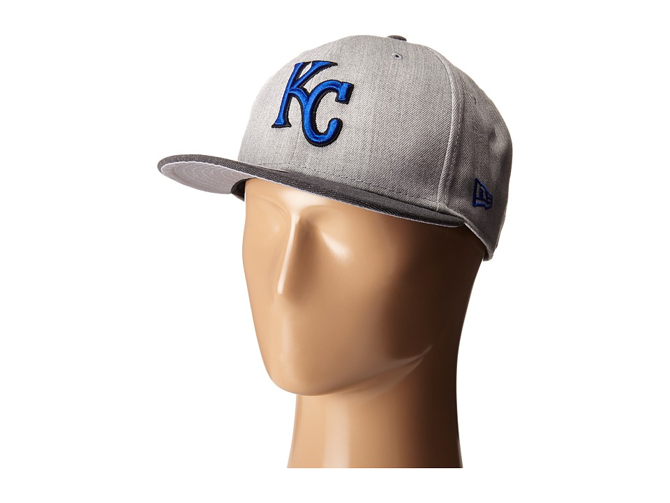 New Era - Heather Act Snap Kansas City Royals (Medium Gray) Caps