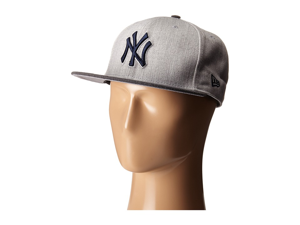 New Era - Heather Act Snap New York Yankees (Medium Gray) Caps
