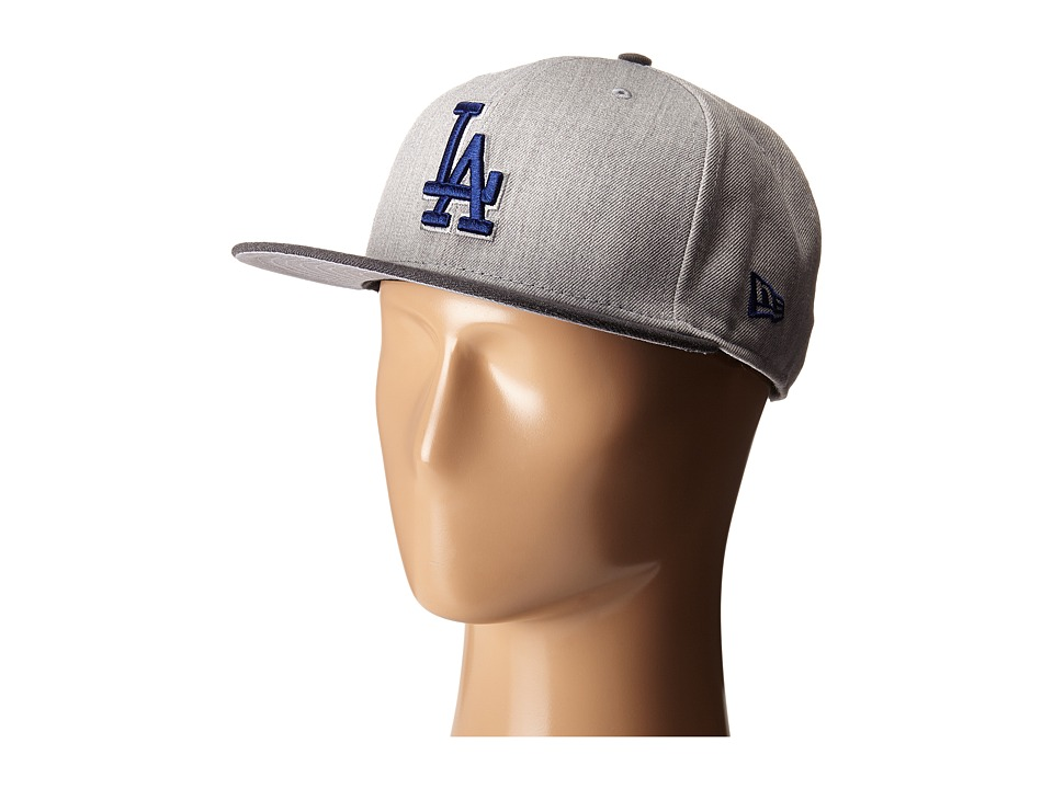 New Era - Heather Act Snap Los Angeles Dodgers (Medium Gray) Caps