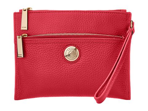 Tommy Hilfiger - Signature Coin Wristlet (Raspberry) Wristlet Handbags