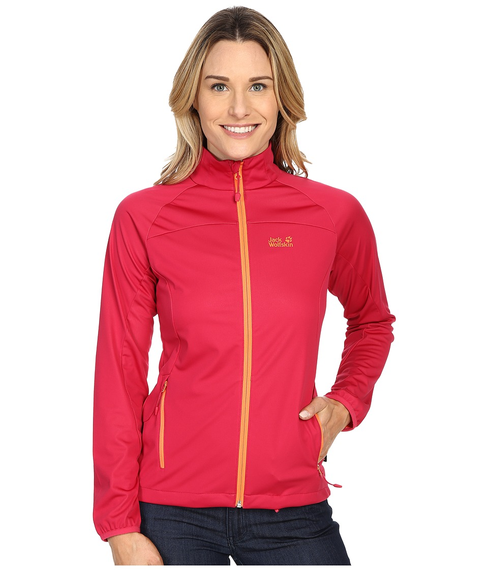 Jack Wolfskin - Crosswind Jacket (Azalea Red) Women's Coat