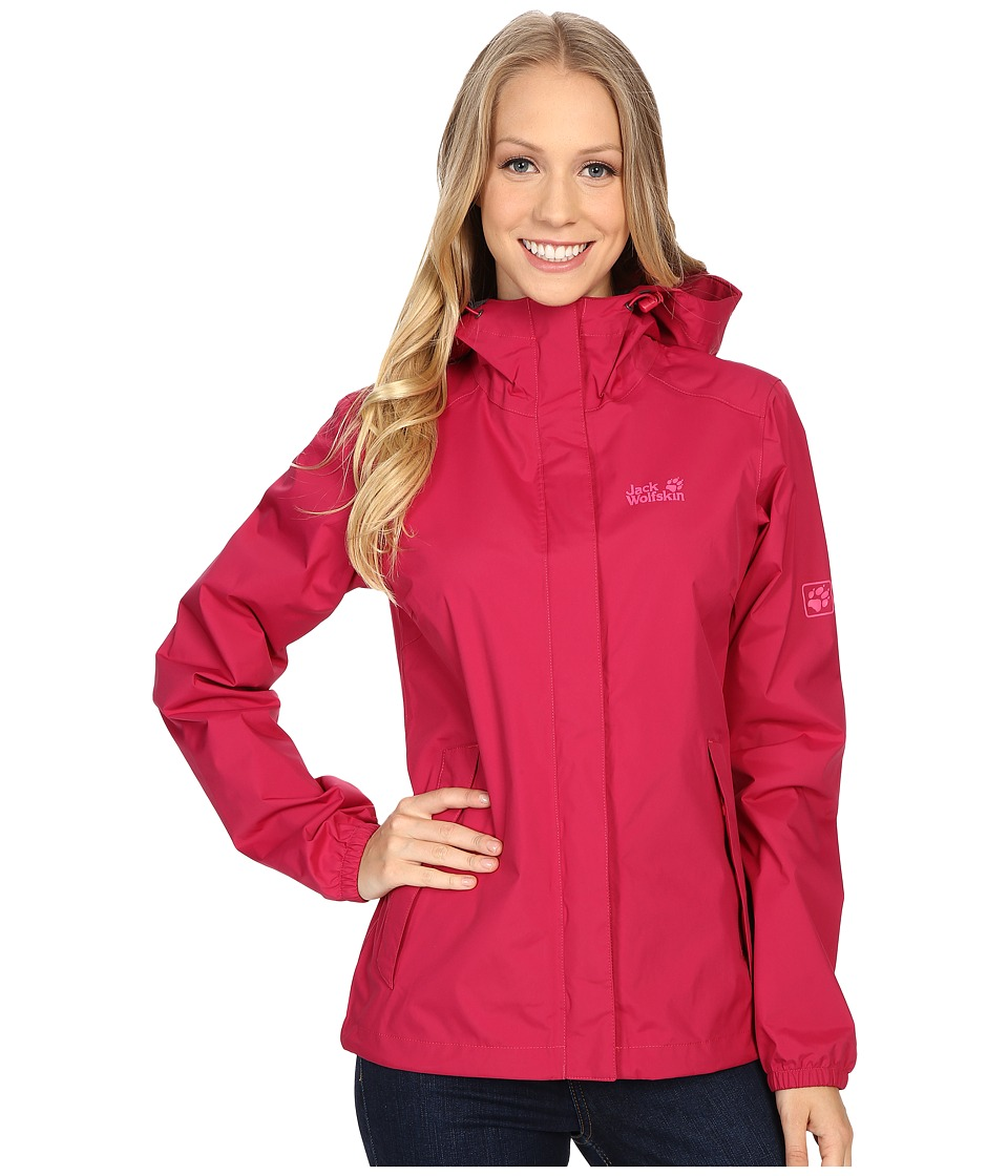 Jack Wolfskin - Cloudburst Jacket (Azalea Red) Women's Coat
