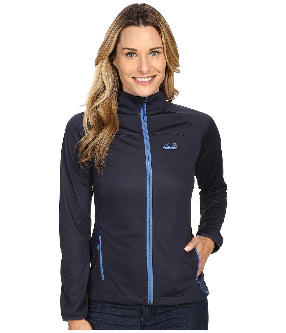 Jack Wolfskin - Crosswind Jacket (Night Blue) Women's Coat