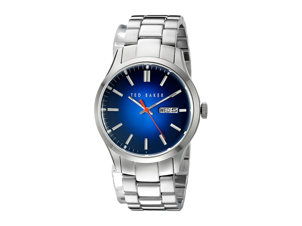 Ted Baker - Dress Sport Collection Custom Link Bracelet Day/Date Watch (Blue) Watches