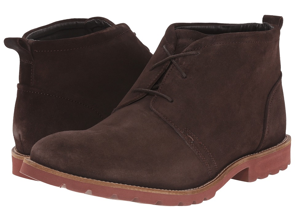 Rockport - Charson (Dark Bitter Chocolate/Brick) Men's Lace-up Boots