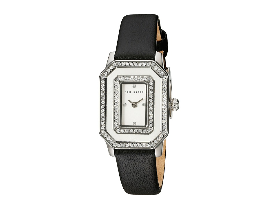 Ted Baker - Bliss Collection Custom Leather Strap Watch (Black) Watches