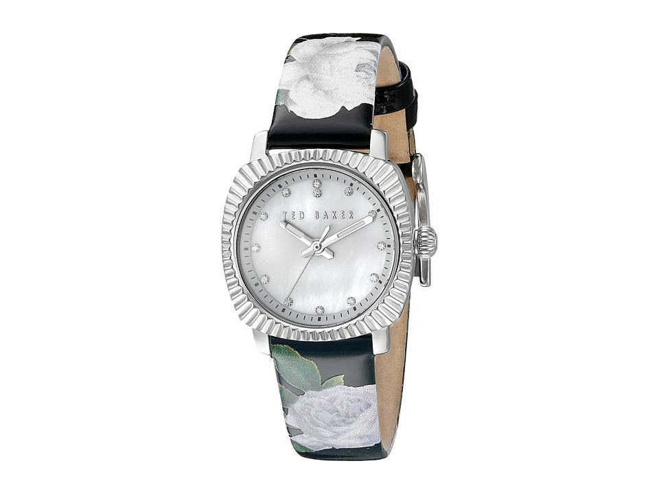 Ted Baker - Mini Jewels Collection Custom Leather Strap Watch (Mother Of Pearl) Watches