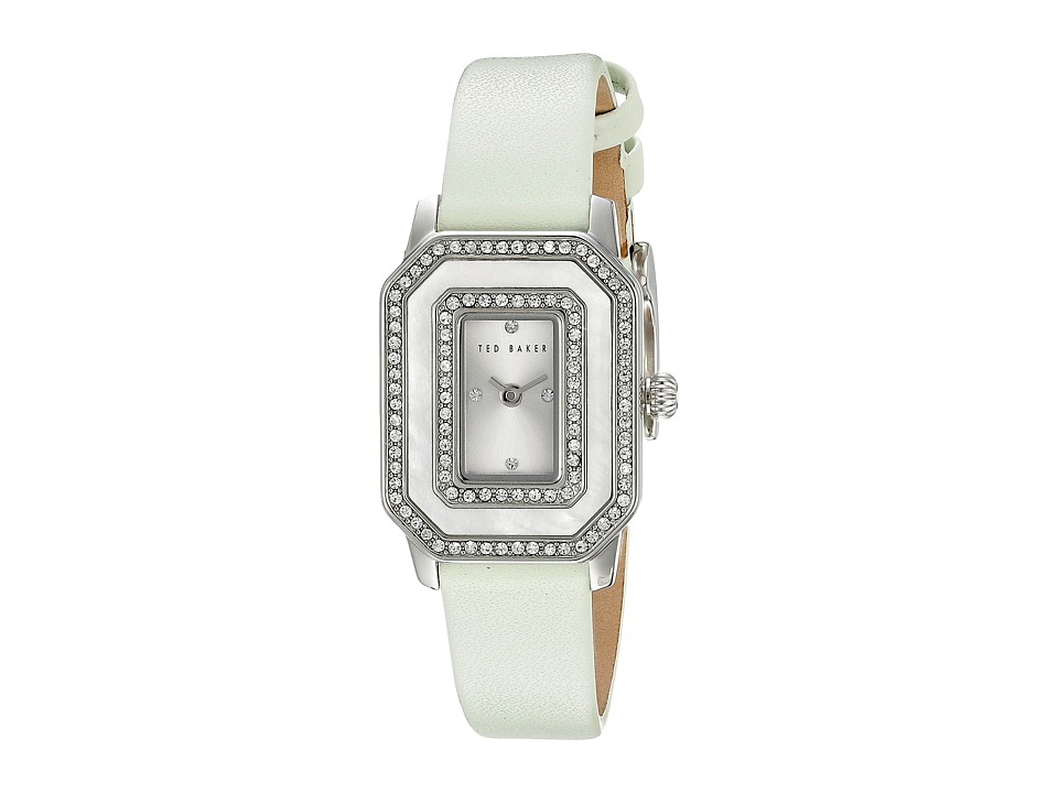 Ted Baker - Bliss Collection Custom Leather Strap Watch (White) Watches