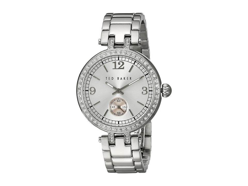 Ted Baker - Smart Casual Collection Custom Link Bracelet Watch (Silver) Watches