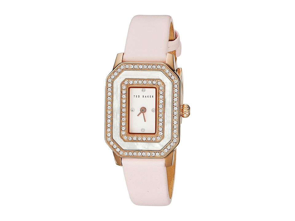 Ted Baker - Bliss Collection Custom Leather Strap Watch (Pink) Watches