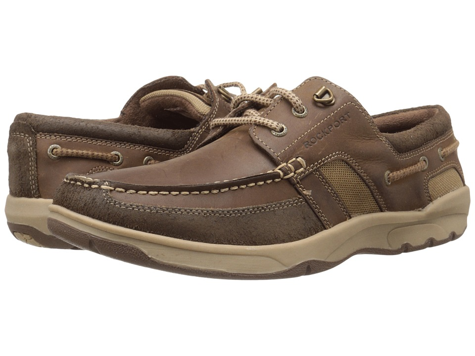 Rockport - Street Sailing 3 Eye Oxford (Medium Brown) Men's Lace up casual Shoes