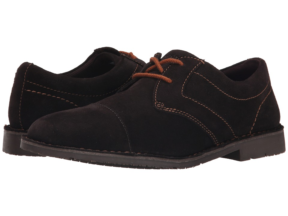 Rockport - Urban Edge Captoe Oxford (Dark Bitter Chocolate Suede) Men's Lace up casual Shoes