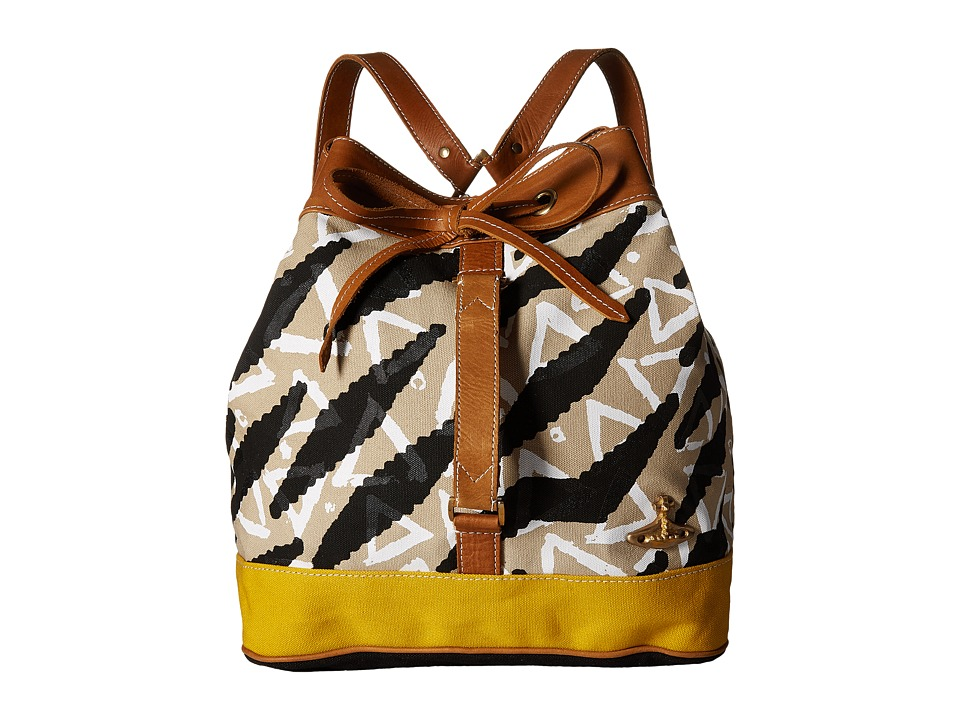 Vivienne Westwood - Africa Tiger Triangle Runner Duffel Bag (Grey/Black) Duffel Bags