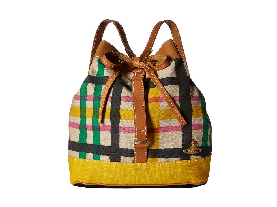 Vivienne Westwood - Africa Handpainted Tartan Duffel Bag (Beige/Tartan) Duffel Bags