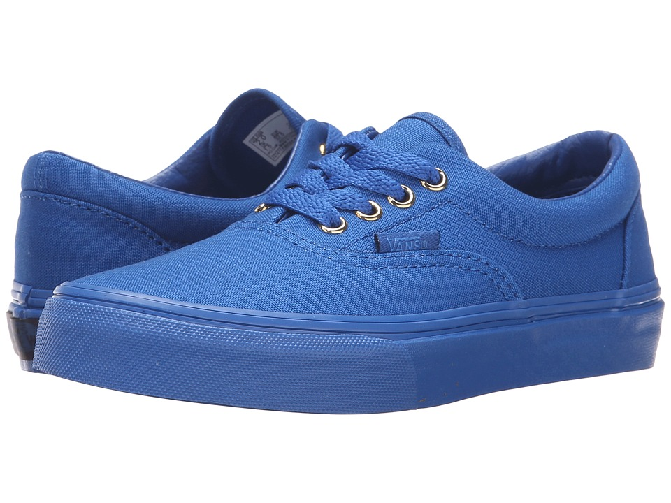 Vans Kids - Era (Little Kid/Big Kid) ((Gold Mono) Nautical Blue) Boys Shoes