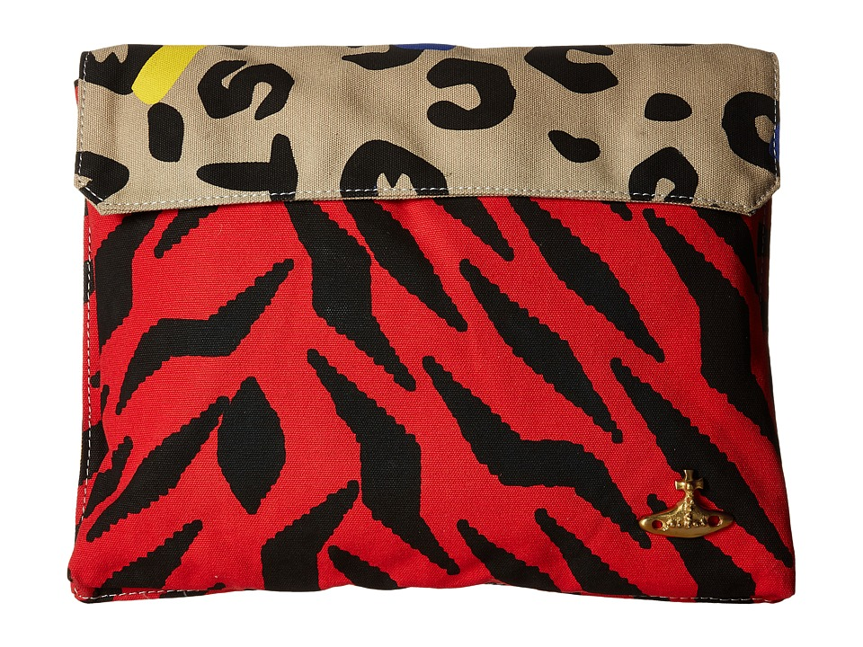 Vivienne Westwood - Africa Leopard Tiger Tech Case (Blue/Yellow/Red) Computer Bags