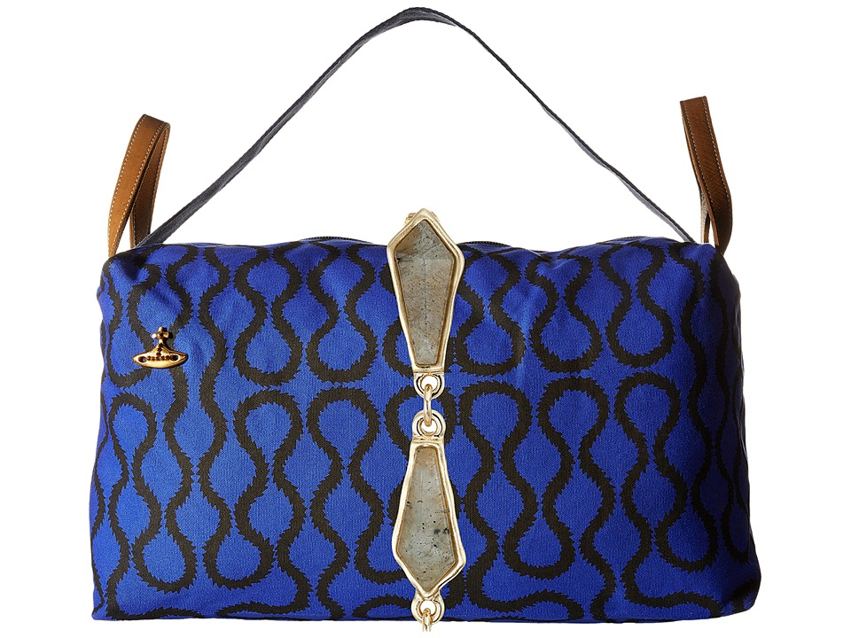 Vivienne Westwood - Africa Large Shopper Bag (Blue Squiggle) Tote Handbags