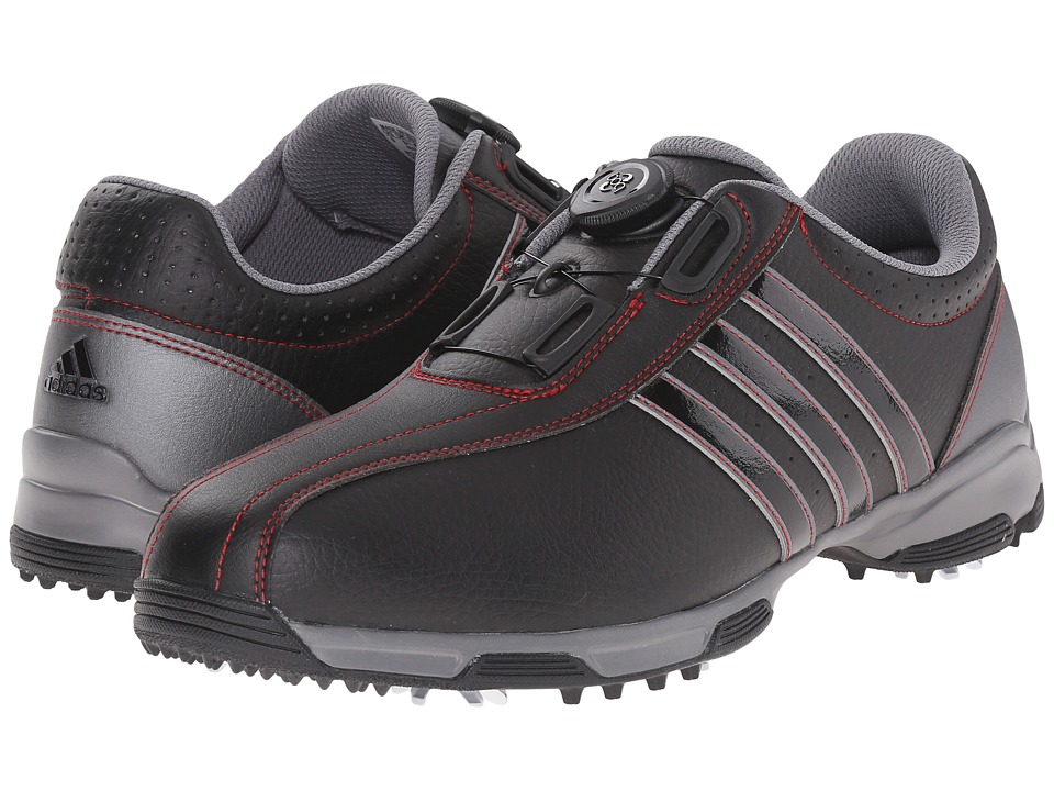 adidas Golf - 360 Traxion Boa (Core Black/Core Black/Iron Metallic) Men's Golf Shoes