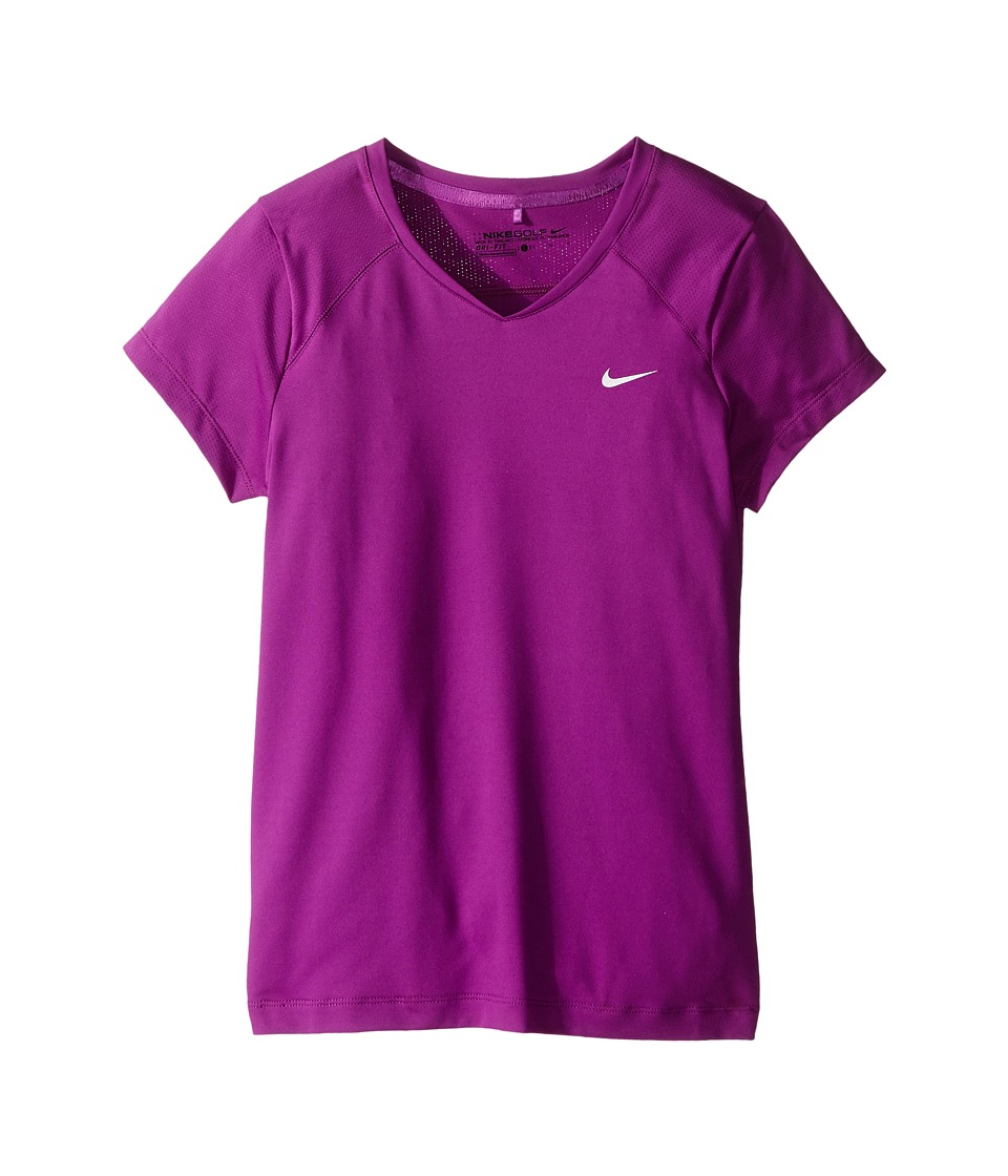 Nike Kids - Greens Top (Little Kids/Big Kids) (Cosmic Purple/Metallic Silver) Girl's Short Sleeve Pullover