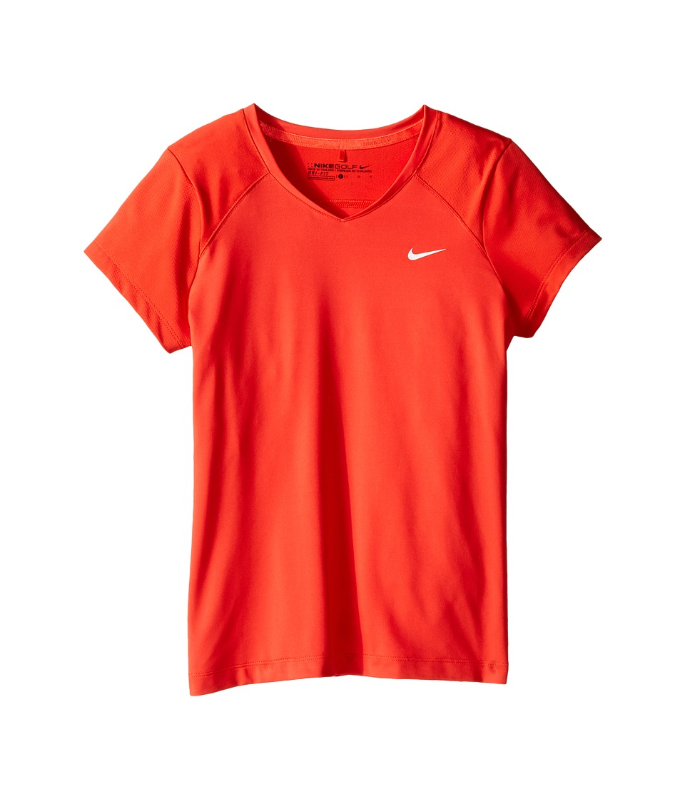 Nike Kids - Greens Top (Little Kids/Big Kids) (Light Crimson/Metallic Silver) Girl's Short Sleeve Pullover