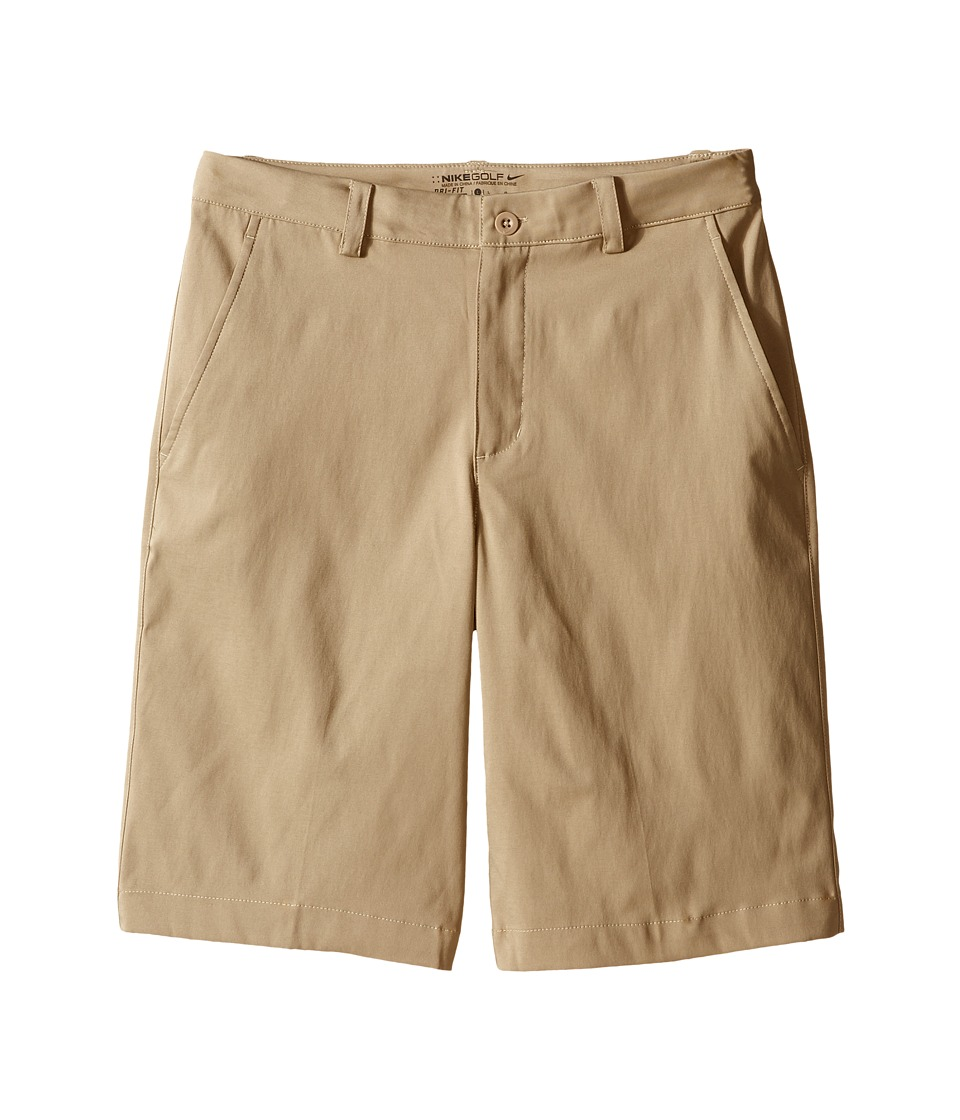 Nike Kids - Flat Front Shorts (Little Kids/Big Kids) (Khaki/Khaki) Boy's Shorts