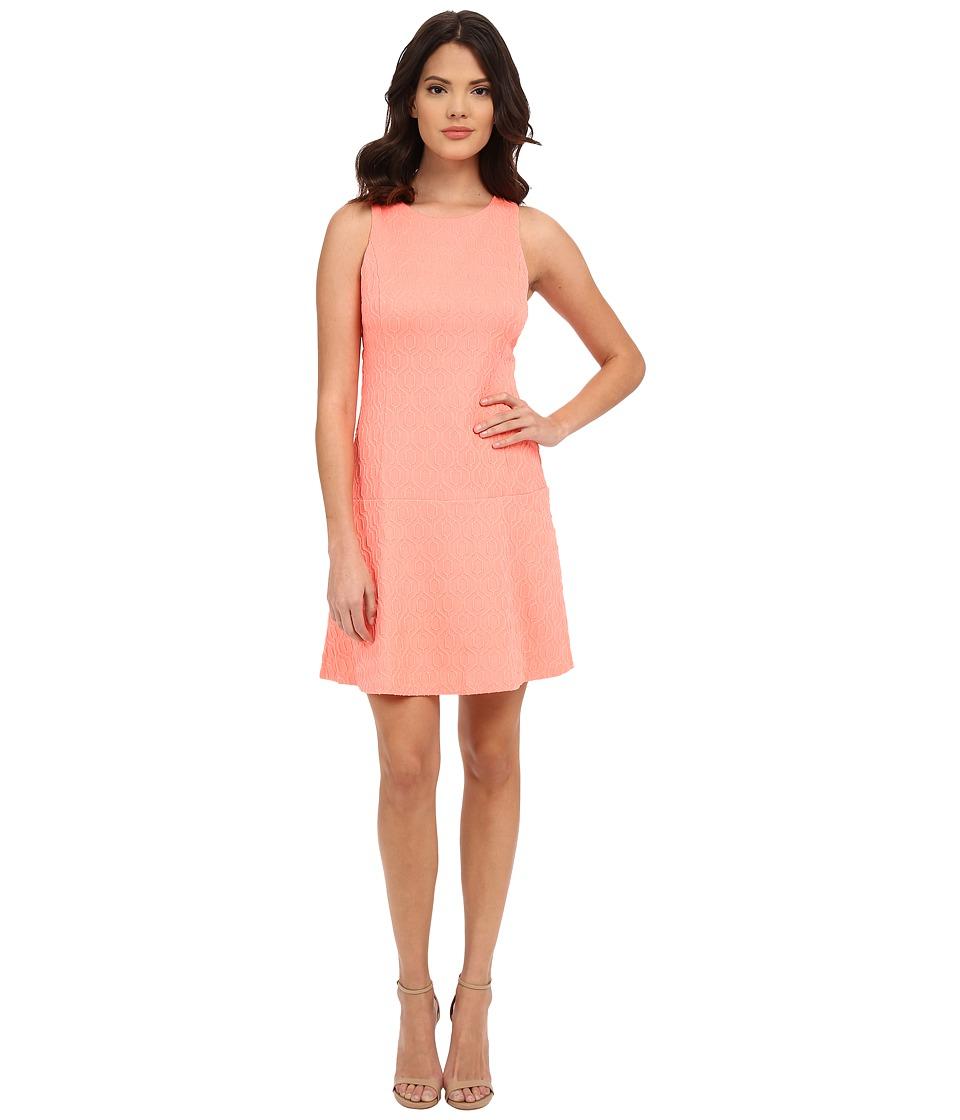 Lilly Pulitzer Kent Dress (Cheeky Melon Retro Knit Jacquard) Women