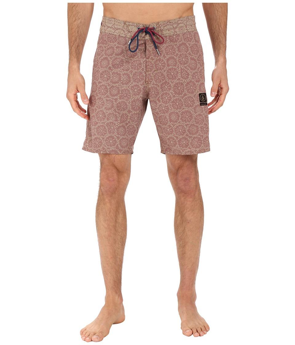 Volcom - Flour Jammer 18 Boardshorts (Crimson) Men's Swimwear