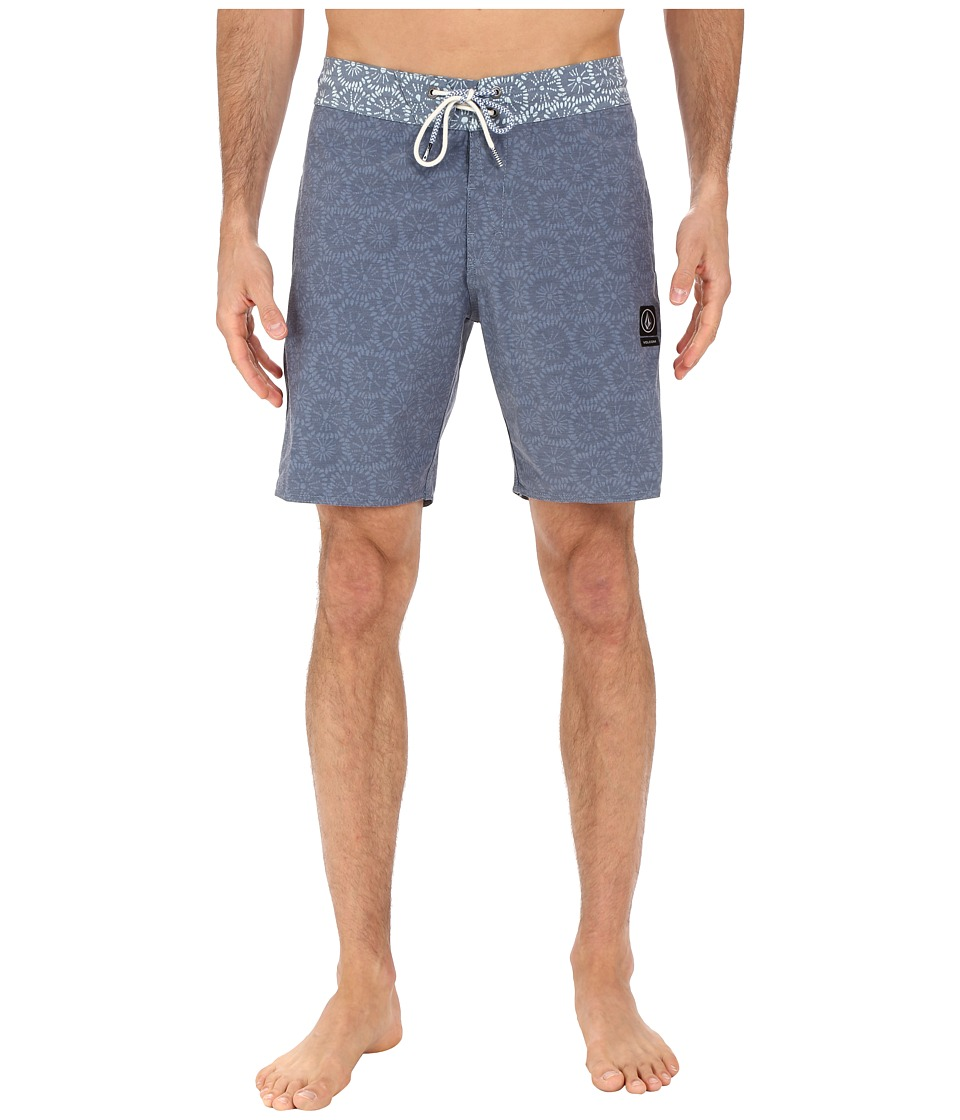 Volcom - Flour Jammer 18 Boardshorts (Navy Paint) Men's Swimwear