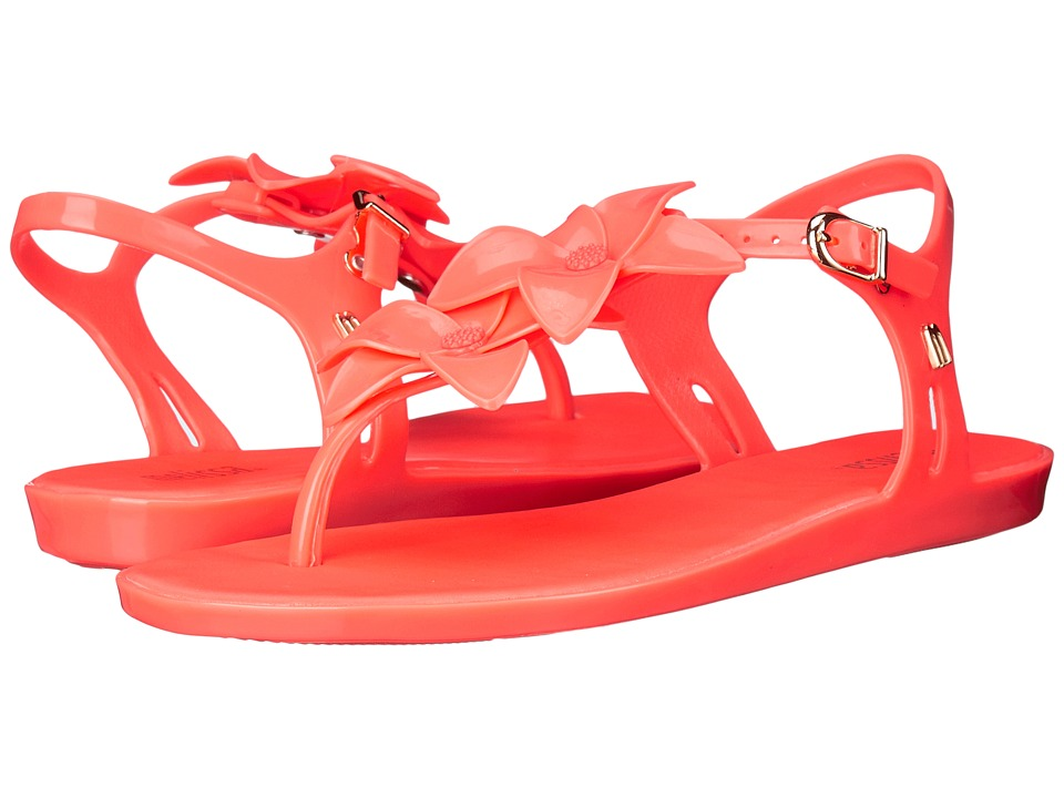 Melissa Shoes - Solar Garden II (Neon Orange) Women's Dress Sandals