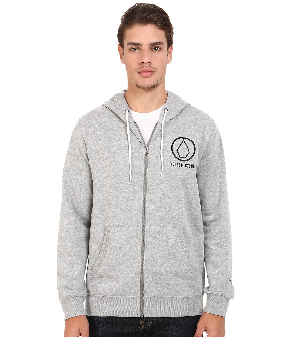 Volcom - Stray Dog Zip Hoodie (Heather Grey) Men's Sweatshirt