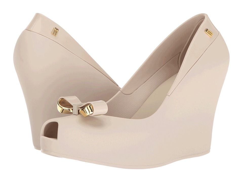 Melissa Shoes - Queen Wedge II (Beige) Women's Dress Sandals