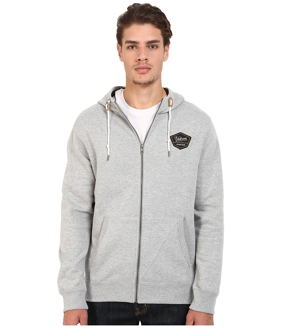 Volcom - Ediza Zip Hoodie (Grey) Men's Sweatshirt