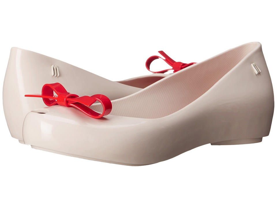 Melissa Shoes Ultragirl Bow (Beige/Red) Women