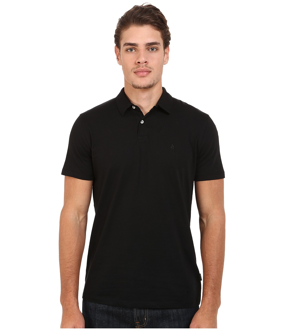 Volcom - Wowzer Polo (Black) Men's Short Sleeve Knit