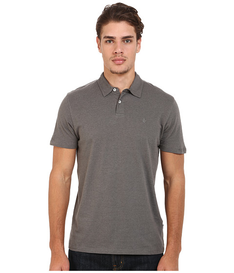 Volcom - Wowzer Polo (Dark Grey) Men's Short Sleeve Knit