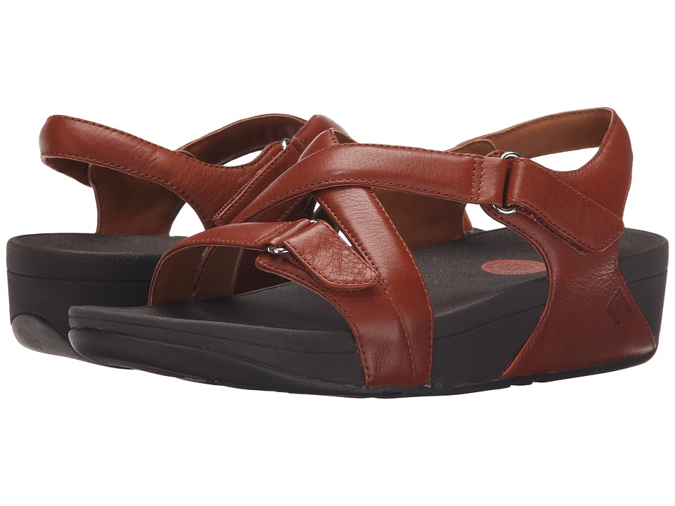 FitFlop - The Skinny Sandal (Dark Tan) Women's Sandals