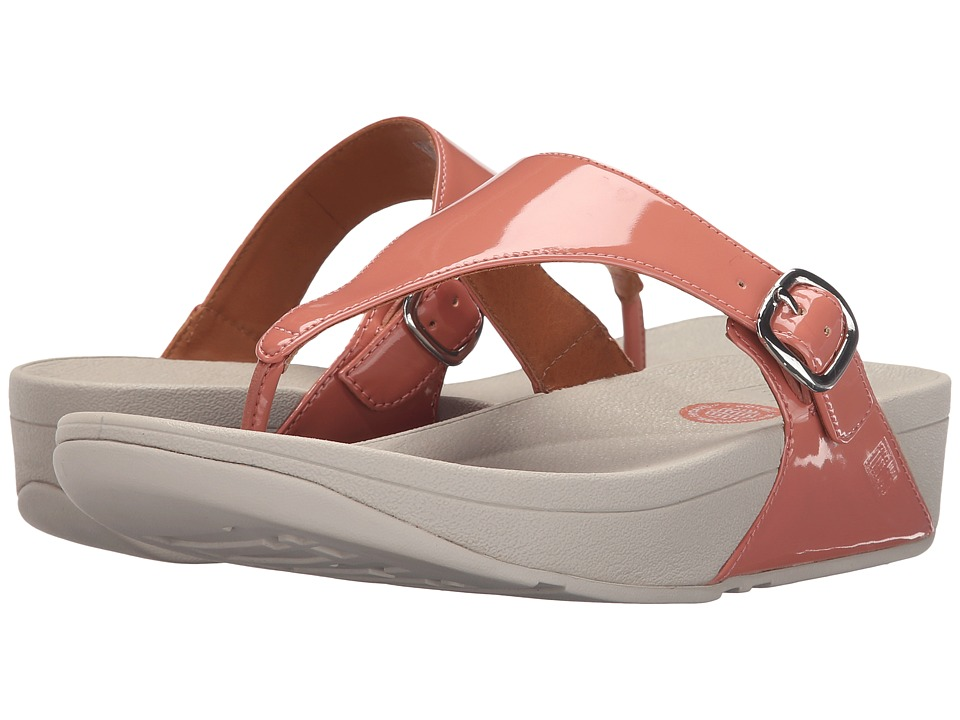 FitFlop - The Skinny Patent (Peach) Women's Shoes